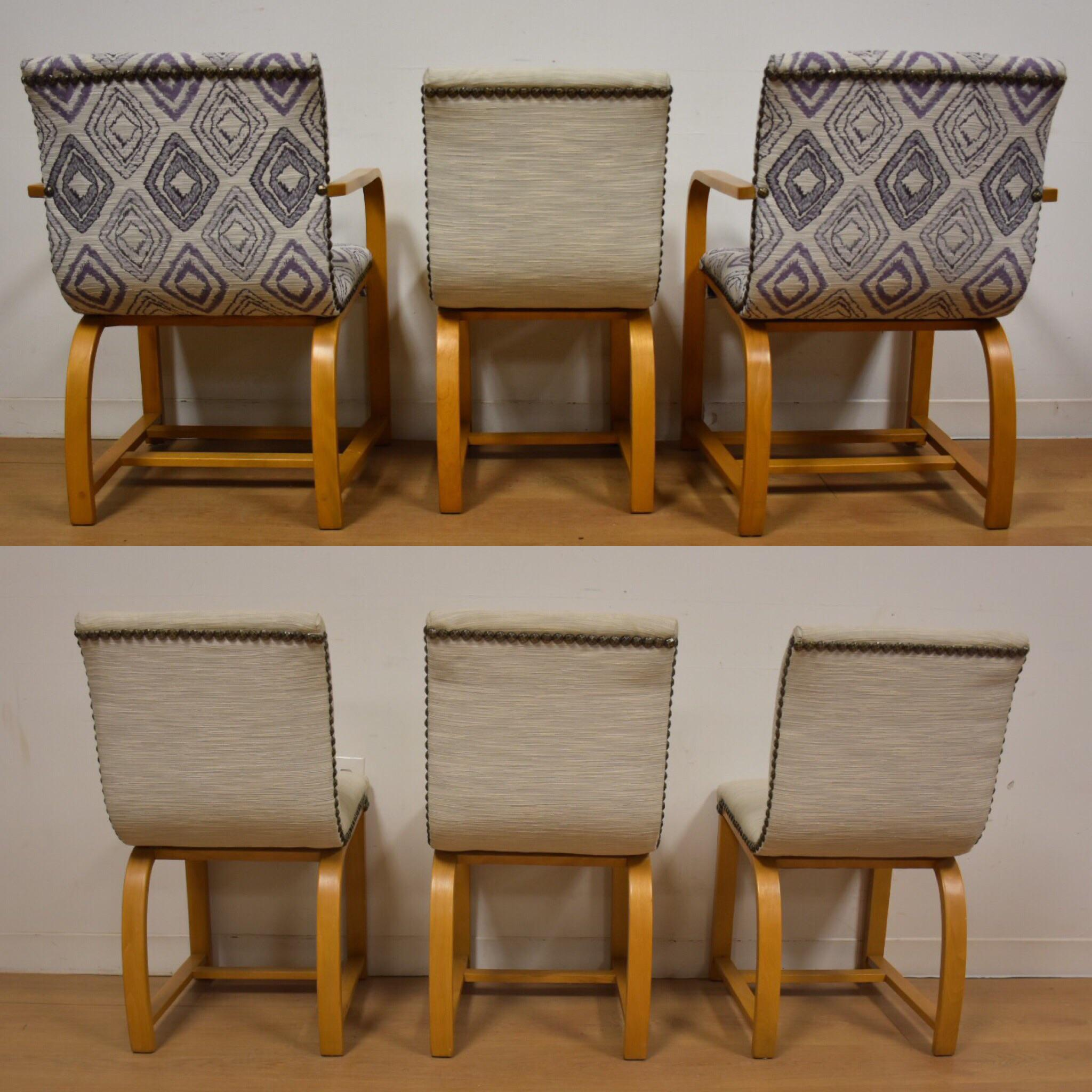 Art Deco Gilbert Rohde Art Deco Modern Dining Chairs   6 For Sale   Image 3