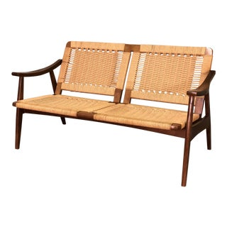 Mid-Century Modern Rope Chair / Loveseat - Style of Hans Wegner
