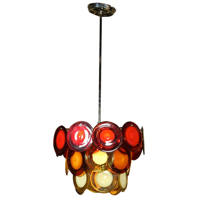 Vostisis Murano Glass Tiered Chandelier For Sale