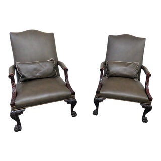 Georgian Style Armchairs - a Pair For Sale