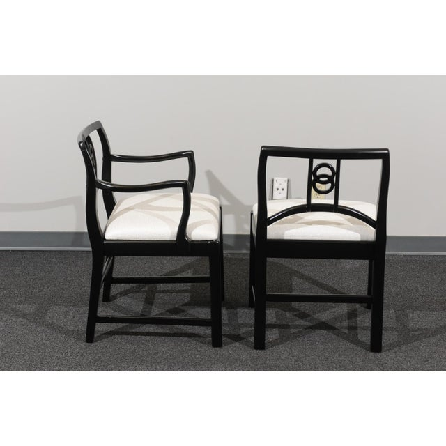 Chic Restored Set of 6 Dining Chairs by Baker Furniture, circa 1960 For Sale In Atlanta - Image 6 of 13