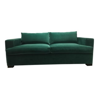 Green Velvet Sofa For Sale