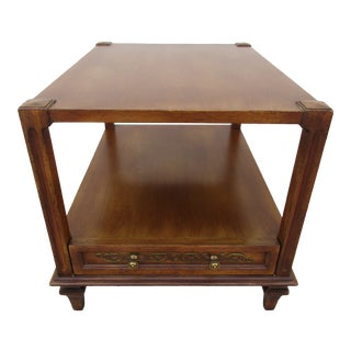 Mid-Century Modern Fine Arts Furniture Co. Two-Tiered Side Table For Sale