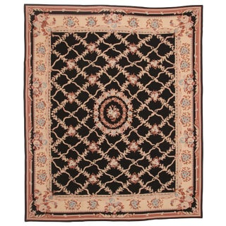Chinese Handmade Needlepoint Carpet - 8' X 10' For Sale