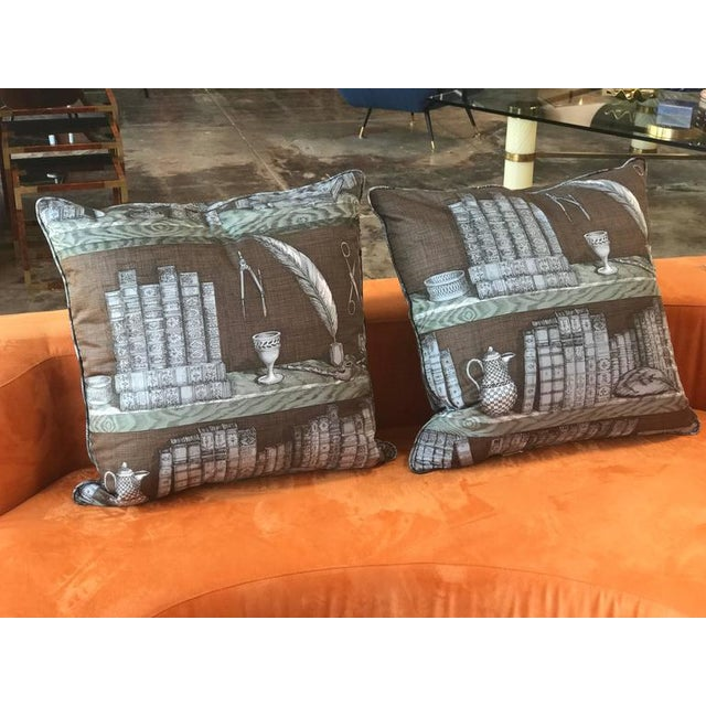 Italian Piero Fornasetti Pillows, 1950s For Sale - Image 3 of 9