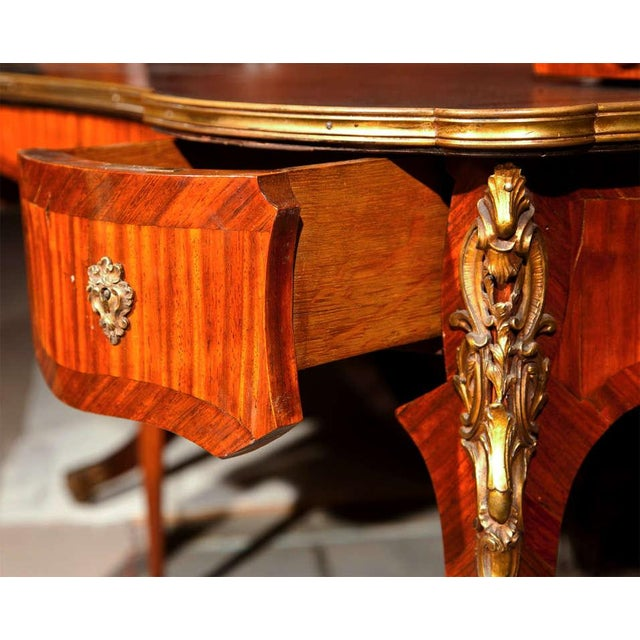 Krieger French Rococo Style Rosewood Writing Table For Sale In New York - Image 6 of 9
