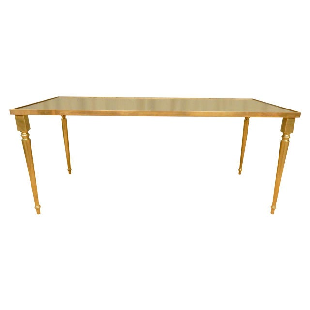 Classical Mirrored Top Mid-Century Modern Coffee Table For Sale In New Orleans - Image 6 of 6