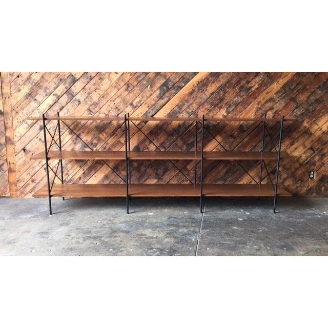 Custom Handmade Iron & Walnut Shelf - Image 2 of 5