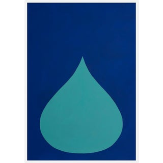 "Large ""Fat Drop of Aqua on Ultramarine"" Print by Stephanie Henderson, 36"" X 50"" For Sale"