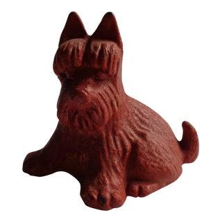 Antique Red Cast Iron Scottie Dog Bank