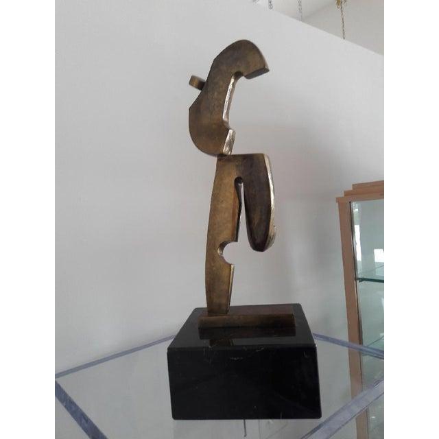 Large Vintage Italian Bronze Sculpture For Sale - Image 9 of 9
