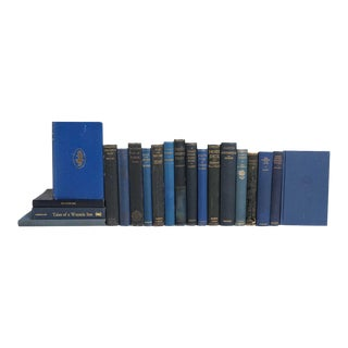 Vintage Blue Pocket-Sized Classics - Set of 20