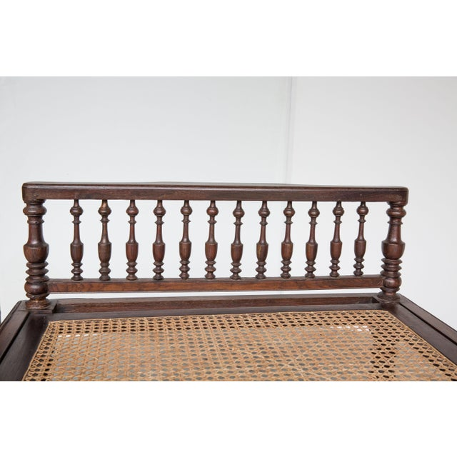 Antique Anglo-Indian Caned Daybed - Image 5 of 10
