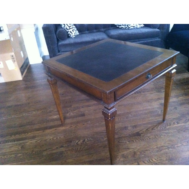 Tomlinson Leather Top Game Table - Image 4 of 6