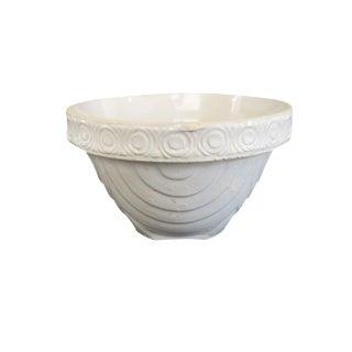 Vintage Small White Stoneware Mixing Serving Bowl