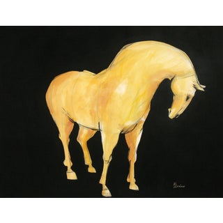 Sienna Tang Horse III Painting by Heidi Lanino For Sale