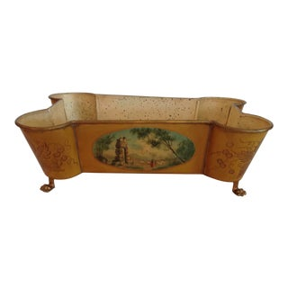 Hand Painted 19th Century French Tole Jardiniere