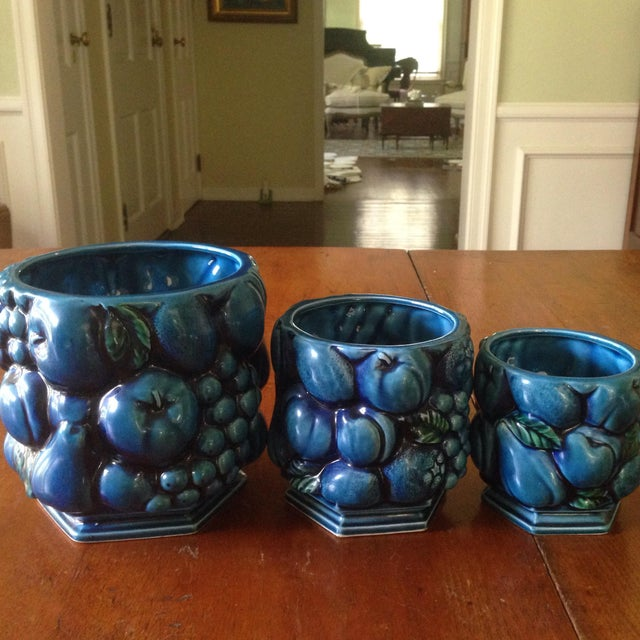 Inarco Japanese Pottery Planters - Set of 3 For Sale - Image 11 of 11
