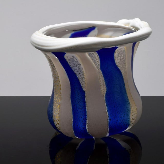 Late 20th Century Japanese Art Glass Sculptural Vessel by Kyohei Fujita For Sale - Image 5 of 12