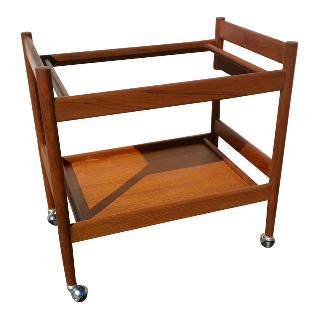 Mid-Century Modern Bar Cart - Image 1 of 4
