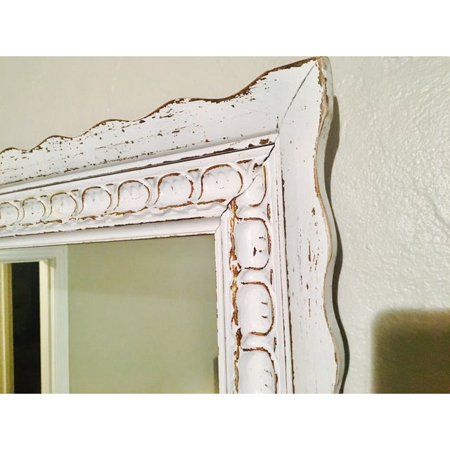 Shabby Chic White Mirror - Image 3 of 6