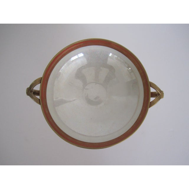 Vintage White, Orange and Gold Tazza with Paw Feet - Image 9 of 11