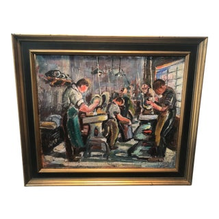 1930s Machine Age Painting For Sale