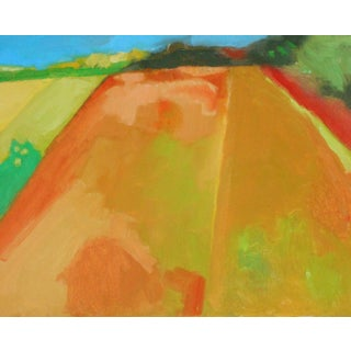 """""""My Farm"""" Contemporary Abstract Landscape Oil Painting by Ann Cameron McDonald For Sale"""