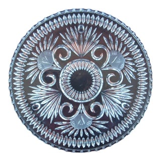 Vintage Cut Glass Cake Plate For Sale