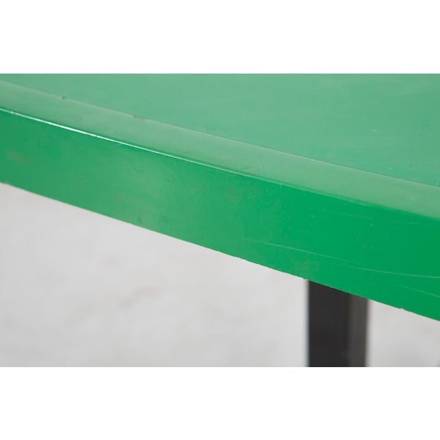 Charlotte Perriand Les Arcs Enameled Green Table by Charlotte Perriand For Sale - Image 4 of 9