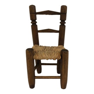 Handmade Wooden Miniature Chair