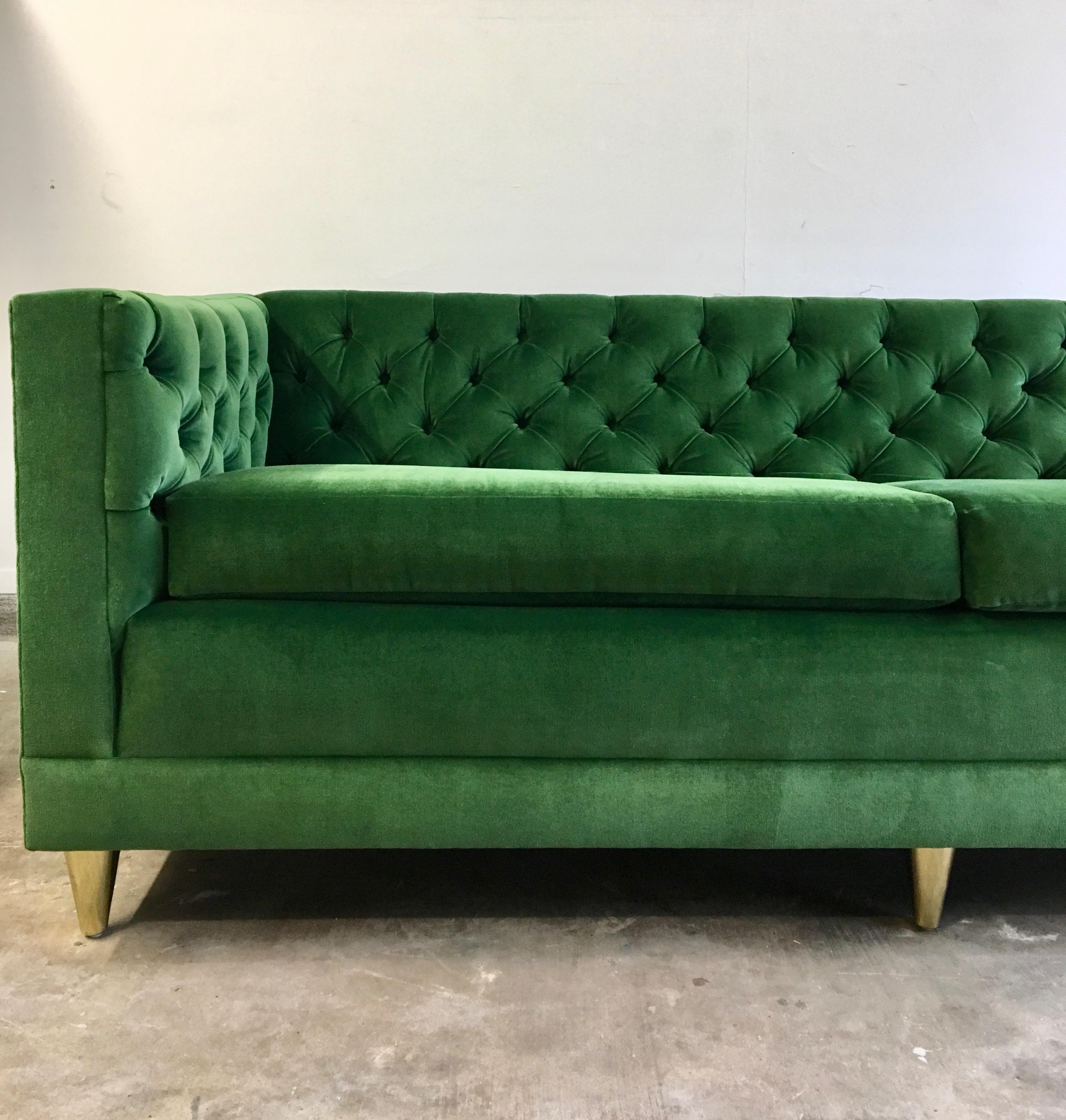 Green Velvet Tuxedo Sofa Image Of With Tuxedo Sofa
