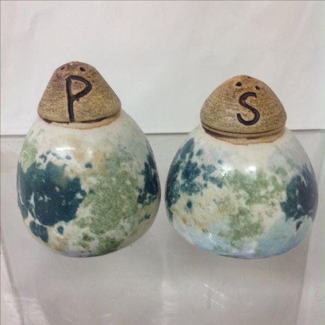 Mid-Century Danish Ceramic Salt & Pepper Shakers - Image 2 of 5
