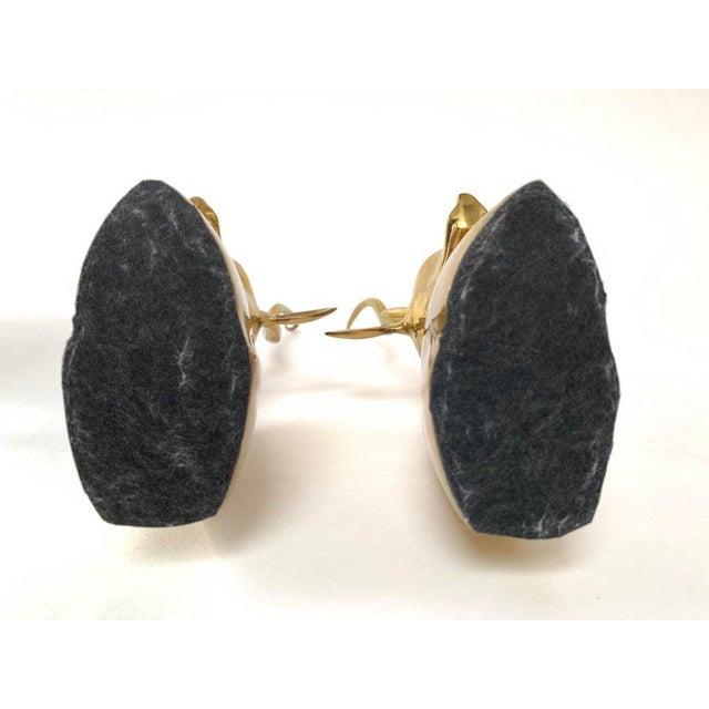 Modernist Sculptural Brass Gazelle Bookends - a Pair For Sale - Image 9 of 12
