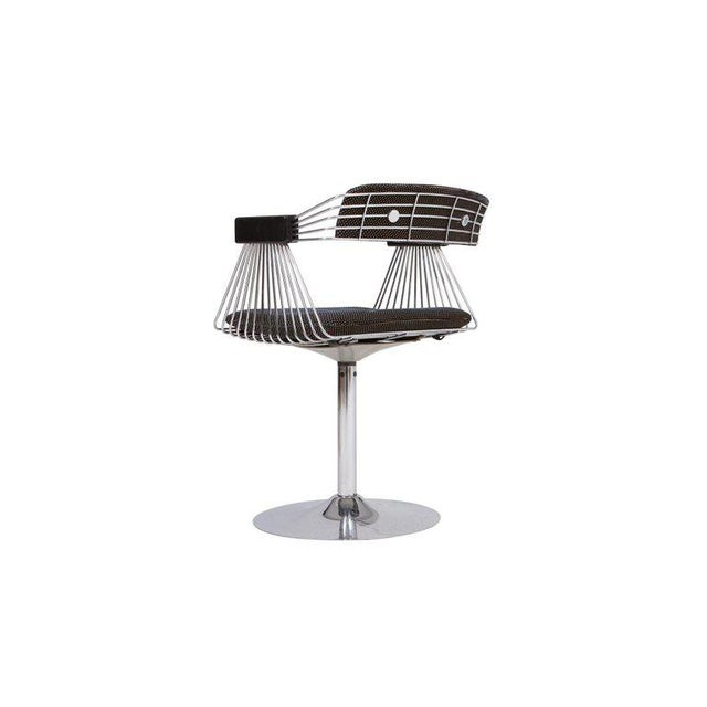Silver Rudi Verelst Space Age Swivel Armchairs in Chromed Steel For Sale - Image 8 of 12
