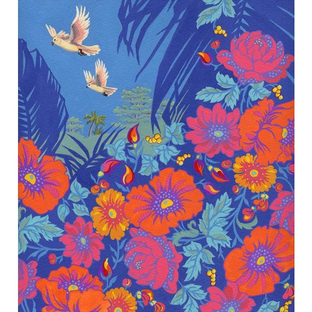 Tropical Bird 2 Original Painting For Sale In Seattle - Image 6 of 6