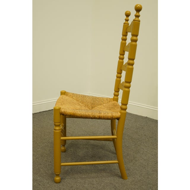 Late 20th Century Hitchcock Stenciled Ladder Back Accent Side Chair For Sale In Kansas City - Image 6 of 10
