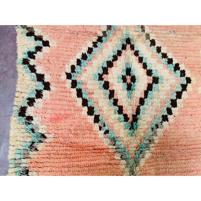 1970s 1970s Vintage Moroccan Beni Ourian Rug-3′12″ × 8′6″ For Sale - Image 5 of 11