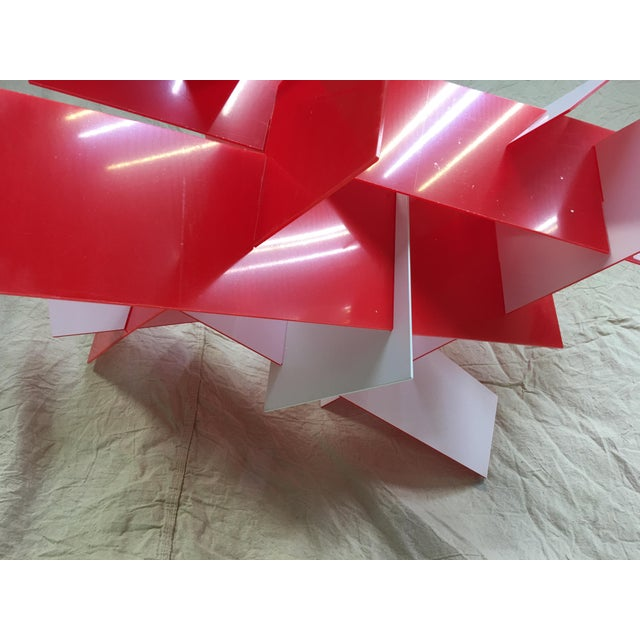 Metal Big Bang Chandelier in Red by Foscarini For Sale - Image 7 of 13