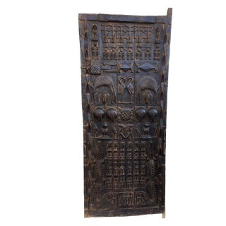 "Stunning Lg African Dogon Door Mali 69.5"" H For Sale"