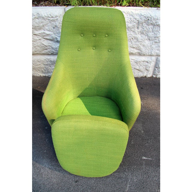 Green 1950s Vintage Mid-Century Modern Viko Baumritter High Back Swivel Chairs S/2 For Sale - Image 8 of 11