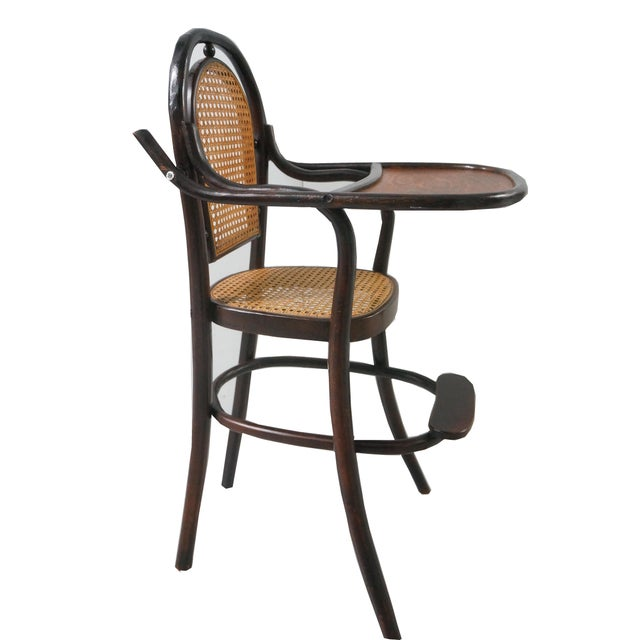 Tan Early 20th Century Antique Children's Bentwood Highchair For Sale -  Image 8 ... - Early 20th Century Antique Children's Bentwood Highchair Chairish
