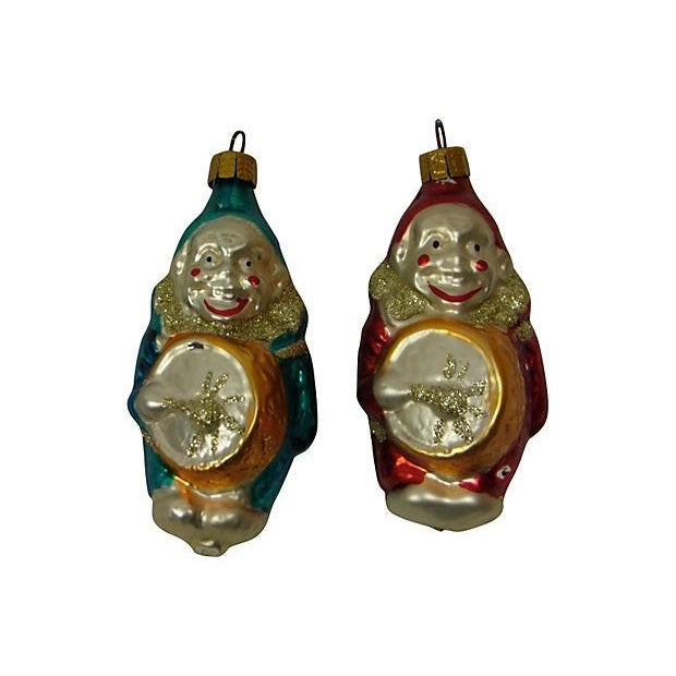 German Clown Christmas Ornaments - Set of 5 - Image 4 of 6