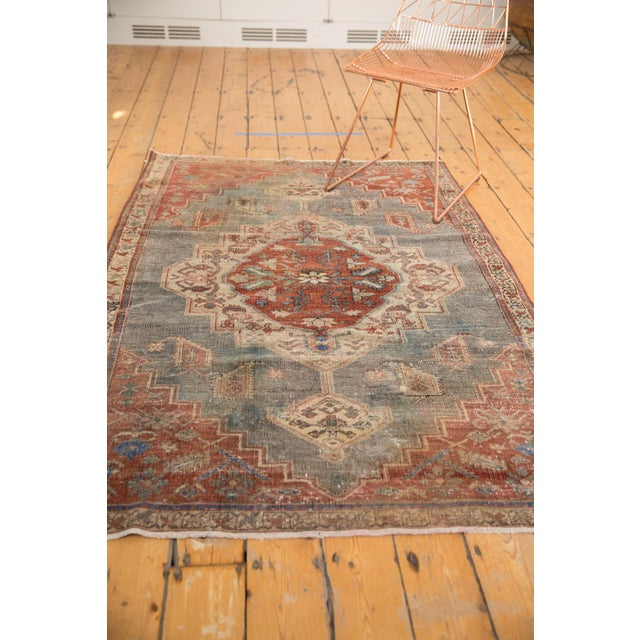 """Old New House Vintage Distressed Northwest Persian Rug - 4'3"""" X 6'3"""" For Sale - Image 4 of 13"""