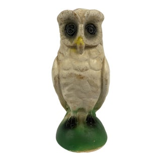 1940's Carnival Ware Chalkware Owl For Sale