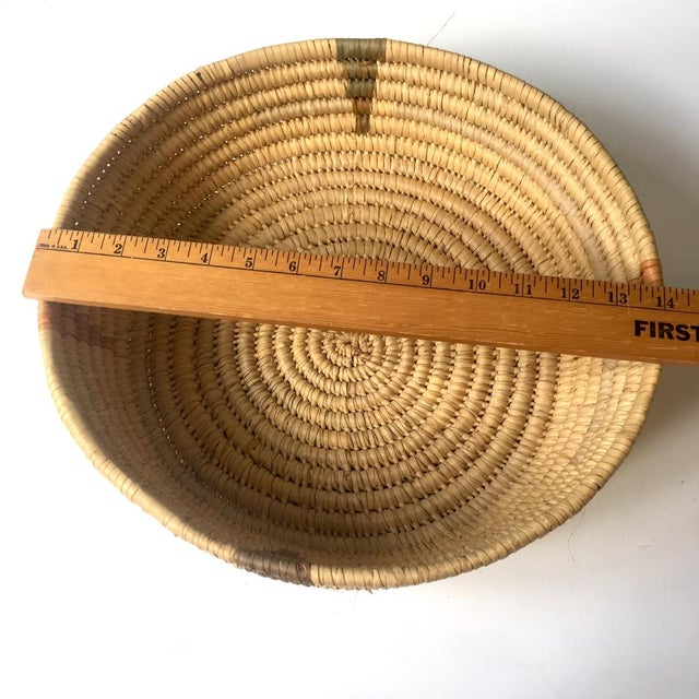 Coiled Large Woven Basket For Sale - Image 4 of 6