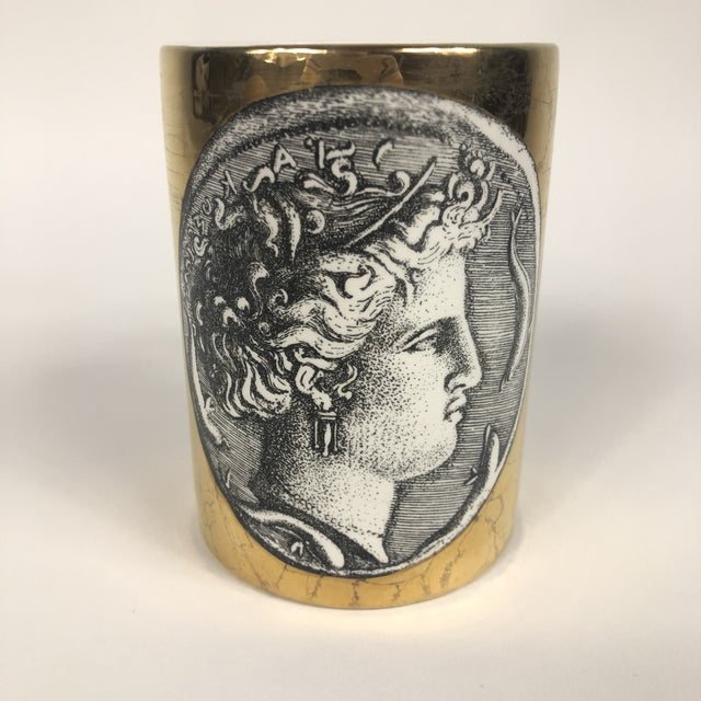 "Piero Fornasetti Porcelain ""Monete"" Mug by Piero Fornasetti For Sale - Image 4 of 9"
