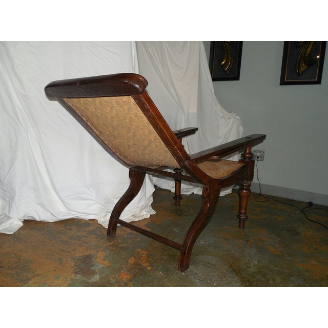 Brown Antique Anglo-Indian Plantation Chair For Sale - Image 8 of 11
