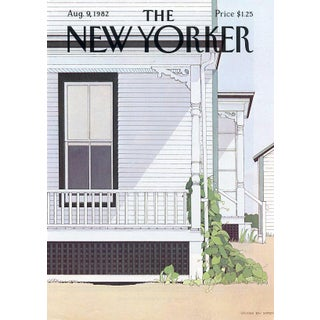 Vintage 1982 New Yorker Cover, August 9 (Gretchen Dow Simpson), New England, Architecture For Sale