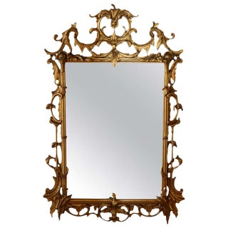 Early 20th Century Vintage Rococo Style Gilded Mirror For Sale